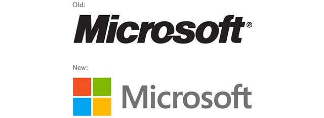old vs new microsoft logo